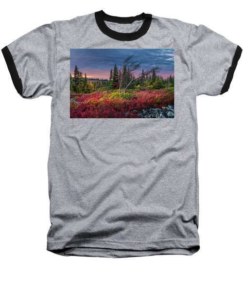 Dolly Sods Windswept Sunset Baseball T-Shirt