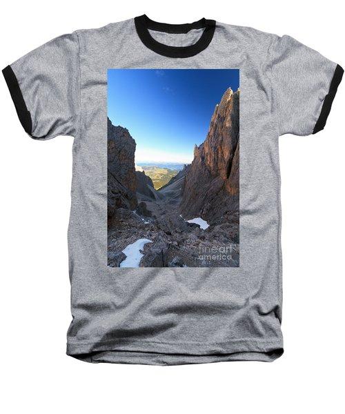 Baseball T-Shirt featuring the photograph Dolomites At Morning by Antonio Scarpi