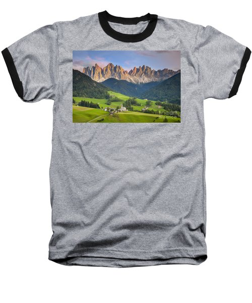 Dolomites From Val Di Funes Baseball T-Shirt