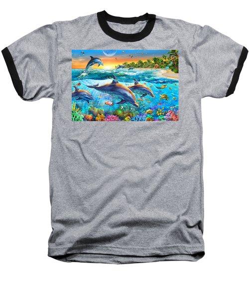 Dolphin Bay Baseball T-Shirt