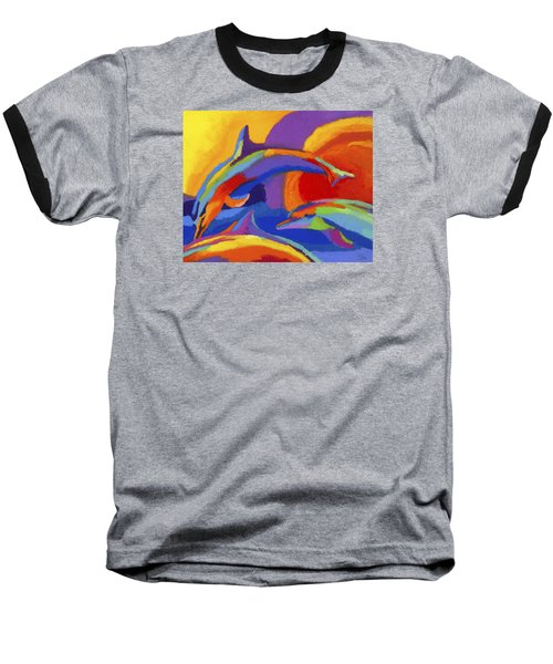 Dolphin Dance Baseball T-Shirt