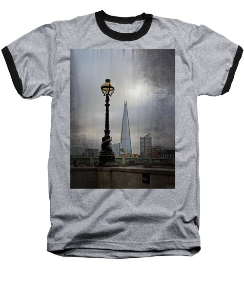 Dolphin Lamp Posts London Baseball T-Shirt by Lynn Bolt