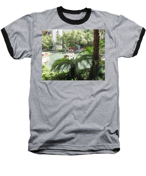 Baseball T-Shirt featuring the photograph Dolphin Pond And Garden Green by Navin Joshi