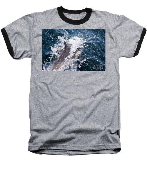 Dolphin Splash Baseball T-Shirt