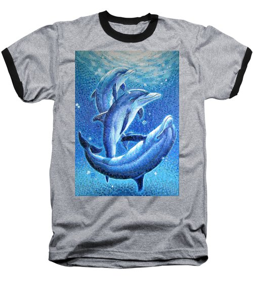 Dolphin Trio Baseball T-Shirt