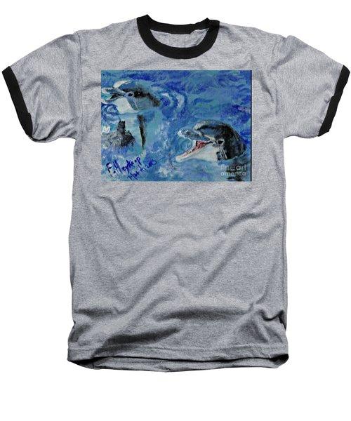 Dolphins Baseball T-Shirt by Francine Heykoop