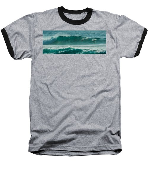 Dolphins In Wave 10 Baseball T-Shirt