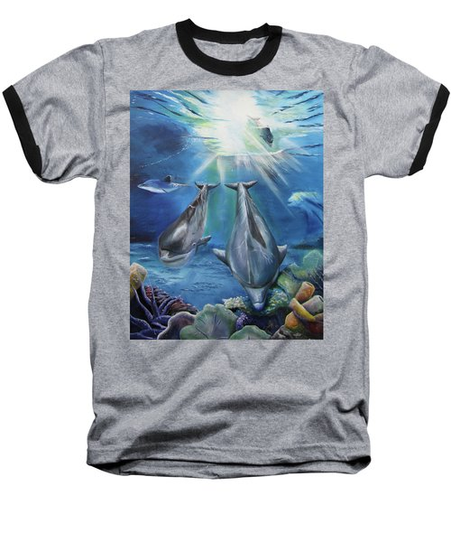 Dolphins Playing Baseball T-Shirt