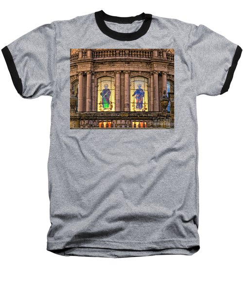 Baseball T-Shirt featuring the photograph Dome Grand Cathedral Of Guadalajara by David Perry Lawrence