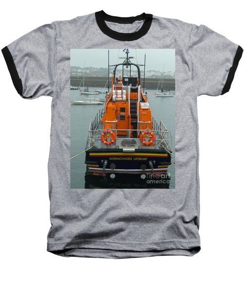 Donaghadee Rescue Lifeboat Baseball T-Shirt by Brenda Brown