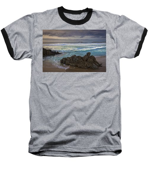 Baseball T-Shirt featuring the photograph Doninos Beach Ferrol Galicia Spain by Pablo Avanzini