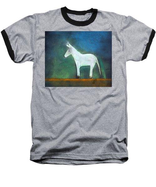 Donkey, 2011 Oil On Canvas Baseball T-Shirt by Roya Salari