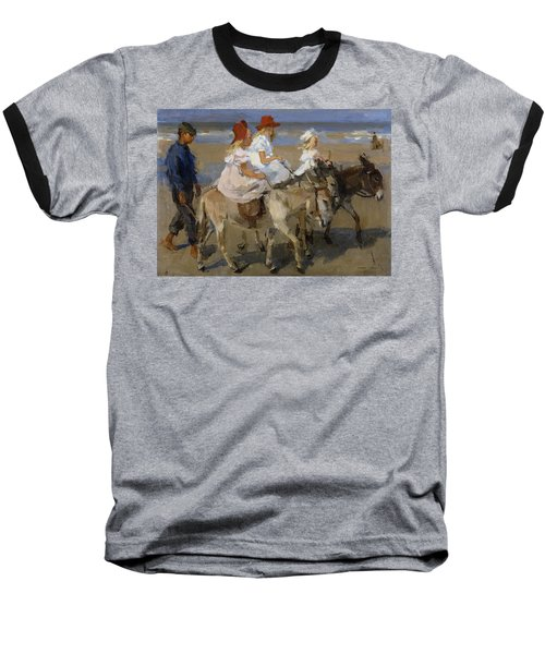 Donkey Rides Along The Beach Baseball T-Shirt