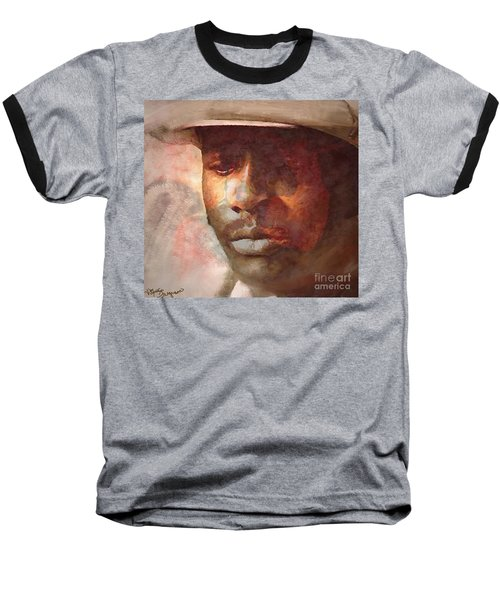 Donny Hathaway Baseball T-Shirt by Vannetta Ferguson