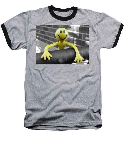 Baseball T-Shirt featuring the photograph Don't Worry Be Happy by Nina Silver