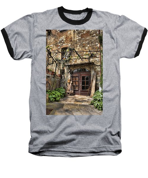 Baseball T-Shirt featuring the photograph Door Montepulciano Italy by Hugh Smith