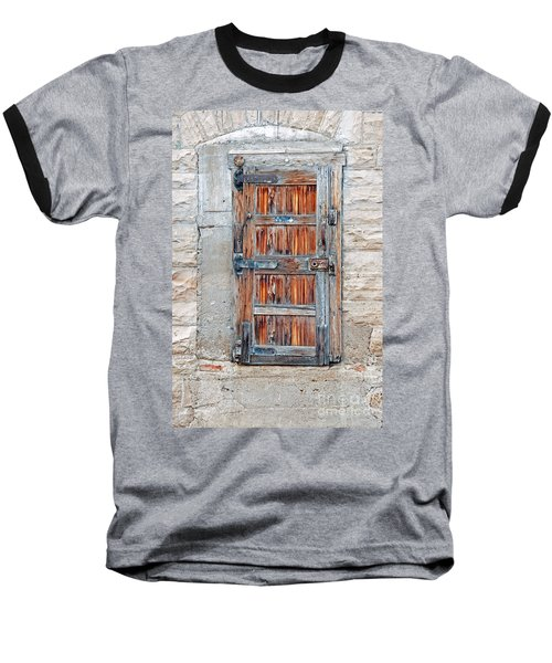 Door Series Baseball T-Shirt by Minnie Lippiatt