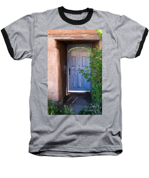 Baseball T-Shirt featuring the photograph Doors Of Santa Fe by Roselynne Broussard