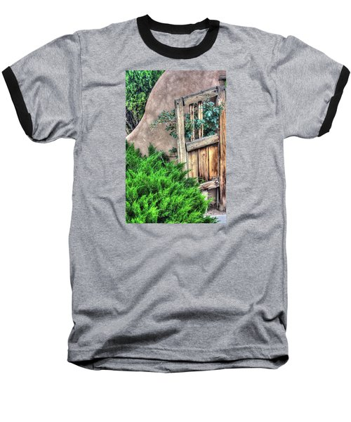 Baseball T-Shirt featuring the photograph Door, Santuario De Chimayo by Lanita Williams