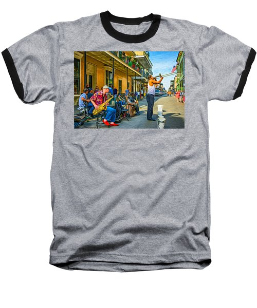 Doreen's Jazz New Orleans - Paint Baseball T-Shirt