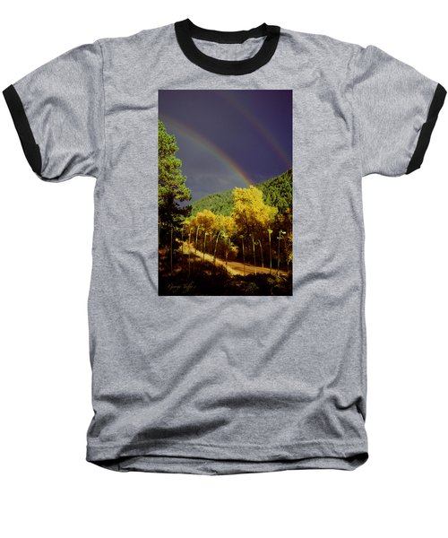Double Rainbow Autumn Baseball T-Shirt