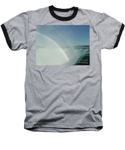 Baseball T-Shirt featuring the photograph Double Rainbow by Brenda Brown