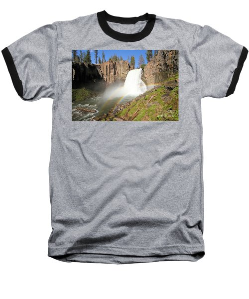 Double Rainbow Falls Baseball T-Shirt by Adam Jewell