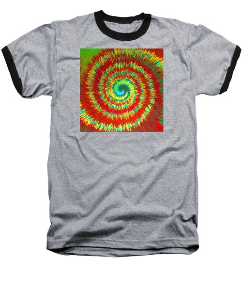 Baseball T-Shirt featuring the painting Double Spiral  C2014 by Paul Ashby