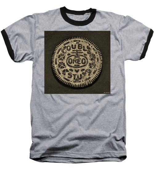 Double Stuff Oreo In Sepia Negitive Baseball T-Shirt
