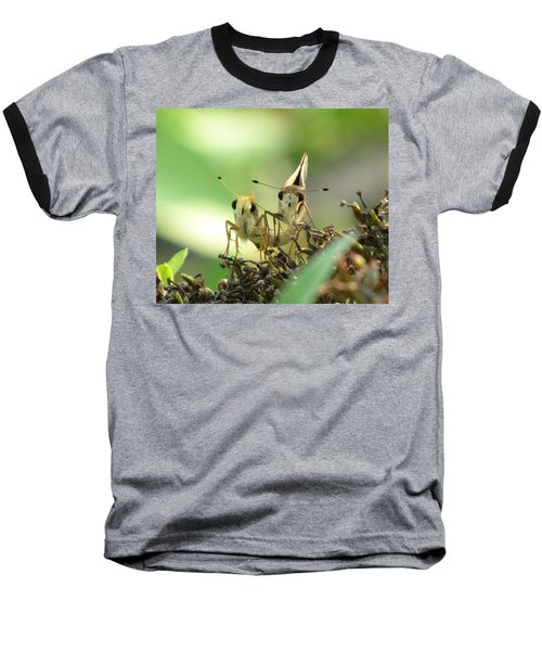 Baseball T-Shirt featuring the photograph Double Trouble by Jennifer Wheatley Wolf