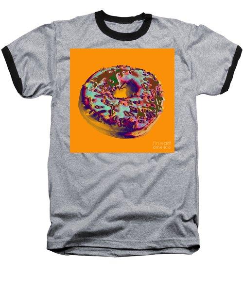 Doughnut Baseball T-Shirt by Jean luc Comperat