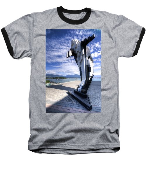 Douglas Coupland's Digital Orca Baseball T-Shirt