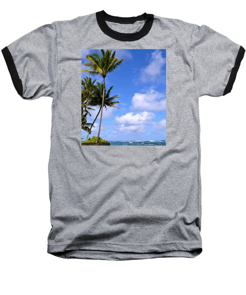 Baseball T-Shirt featuring the photograph Down By The Ocean In Hawaii by Lehua Pekelo-Stearns