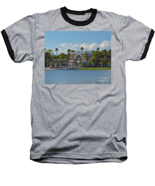 Down By The Station Baseball T-Shirt by Carol  Bradley