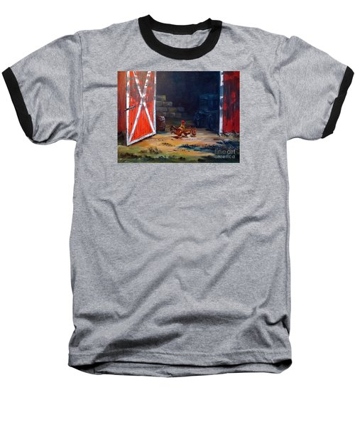 Down On The Farm Baseball T-Shirt by Lee Piper
