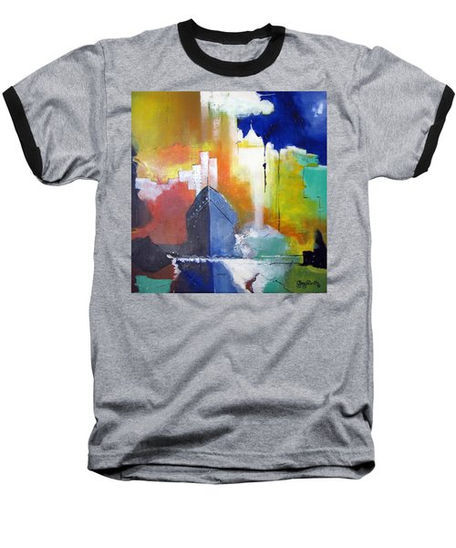 Baseball T-Shirt featuring the painting Down The Hudson by Gary Smith