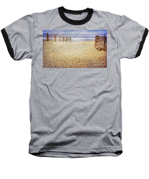 Baseball T-Shirt featuring the photograph Down The Shore by Debra Fedchin
