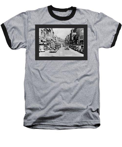 Downtown Bristol Va Tn 1931 Baseball T-Shirt