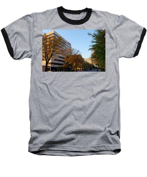 Downtown Chattanooga Baseball T-Shirt by Melinda Fawver
