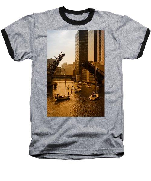 Downtown Chicago Baseball T-Shirt