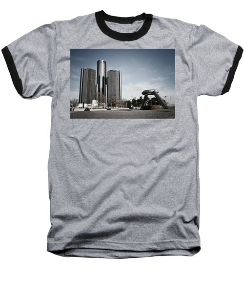 Downtown Detroit Baseball T-Shirt