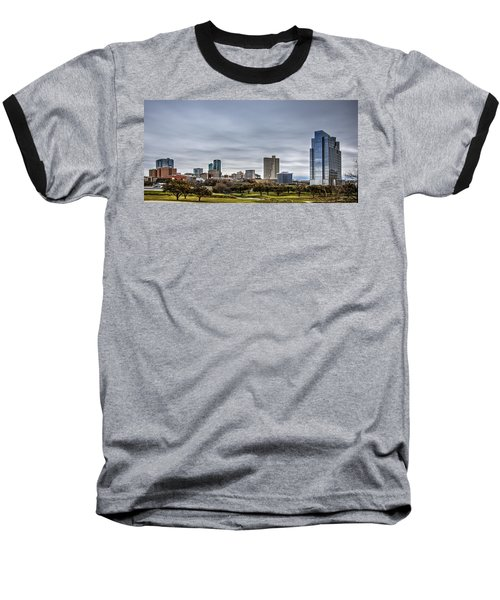 Downtown Fort Worth Trinity Trail Baseball T-Shirt