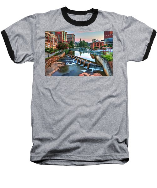 Downtown Greenville On The River Baseball T-Shirt