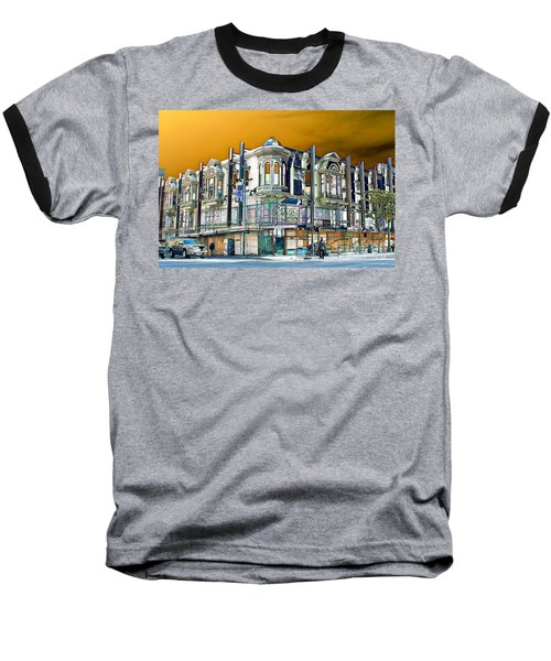 Downtown Los Angeles Corner Facade Baseball T-Shirt
