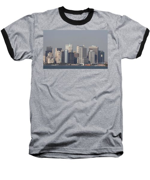 Downtown Manhattan Shot From The Staten Island Ferry Baseball T-Shirt by John Telfer