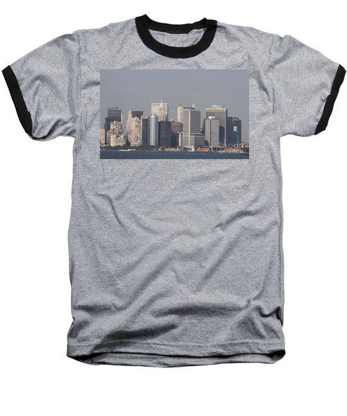 Downtown Manhattan Shot From The Staten Island Ferry Baseball T-Shirt