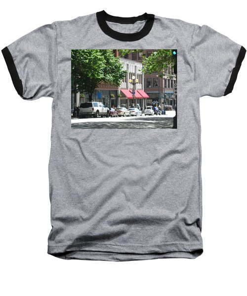 Downtown Neighborhood Baseball T-Shirt by David Trotter