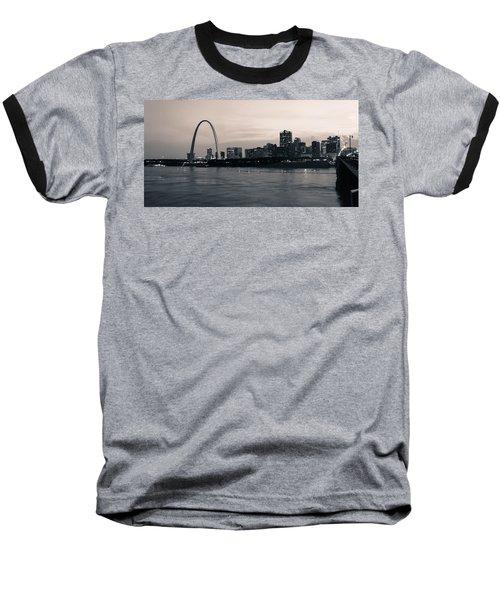 Downtown St. Louis In Twilight Baseball T-Shirt