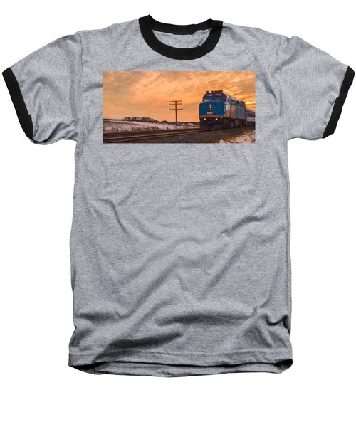 Downtown Train Baseball T-Shirt