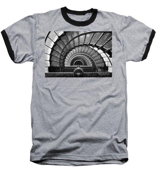 Downward Spiral Bw Baseball T-Shirt